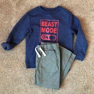Boys Sweatshirt + Pants